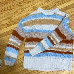 American eagle stripped knit sweater